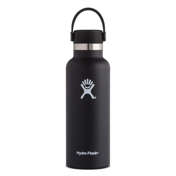Hydro Flask Black Standard Mouth