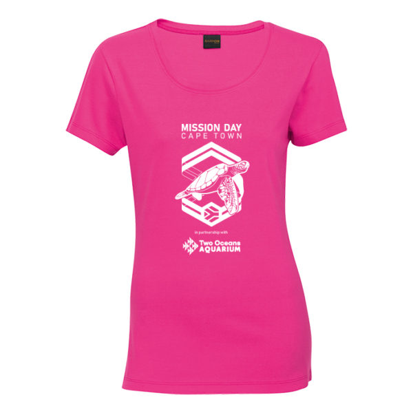 Ladies Bright Pink Tee